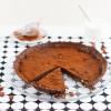 Schokolade Karamell Tarte mit Fleur de Sel