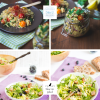 Nudel Salat mit Rucola Gorgonzola & Heidelbeeren