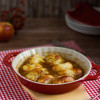 Apfel Dumplings in Honig Butter Sauce