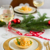 Linguine mit Flusskrebsen & Jakobsmuscheln im Parmesan Körbchen