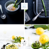 Tagliatelle mit Avocado Zitronen Sauce & Grünem Spargel