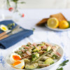 Spargel Avocado Salat mit Joghurt Dill Dressing