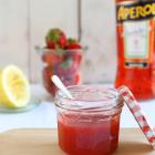 Erdbeermarmelade mit Aperol (+ Blätterteig)