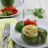 Zucchini Tondo mit Bulgur Feta Füllung