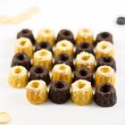 Mini Gugls - Dunkle & Weiße Schokolade Brownies & Blondies