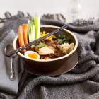 Ramen Suppe mit Hühnerbrustfilets