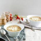 Bohnen Dinkel Suppe mit Pancetta, Parmesan & Salbei