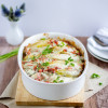 Chicoree Kartoffel Auflauf mit Schinken