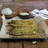 Fritten aus Grünem Spargel mit Parmesan
