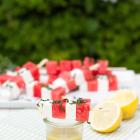 Wassermelonen Feta Spieße mit Minze
