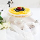 Biskuit Obstkuchen mit Zitronen Quark Creme