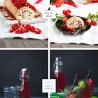 Biskuitrolle mit Johannisbeeren & Cassis Glasur