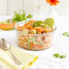 Salat mit Glasnudeln Papaya & Hähnchen