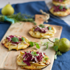 Mini Pizza mit Birne & Gorgonzola