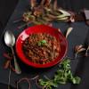 Schwarze Bohnen in Mexikanischer Mole Sauce