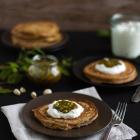 Vollkorn Pancakes mit Baklava Topping