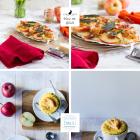 Pizza mit Apfel, dreierlei Käse & Parmaschinken