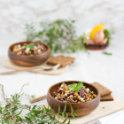 Kindeybohnen Salat mit Feta & Harissa Sauce
