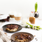 Schokoladen Ravioli mit Mascarpone Füllung & Karamell Mocca Sauce