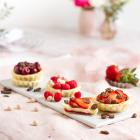 Mini Käsekuchen Häppchen mit Früchten