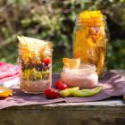 Mexikanischer Nacho Salat im Glas
