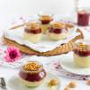 Süßer Couscous mit Kirschkompott und Amarettini