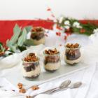 Maronen Baileys Mousse mit karamellisierten Pekannüssen