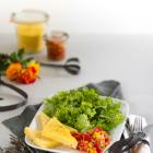 Rosmarin Polenta Schnitten mit Tomaten Anchovi Sugo