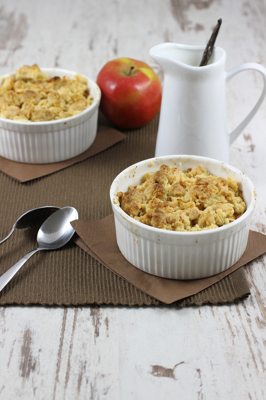 haseimglueck.de Rezept, Apple-Crumble 1