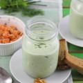 haseimglueck.de Rezept, Kalte Gurken Joghurt Suppe mit Walnüssen und Lachs 1