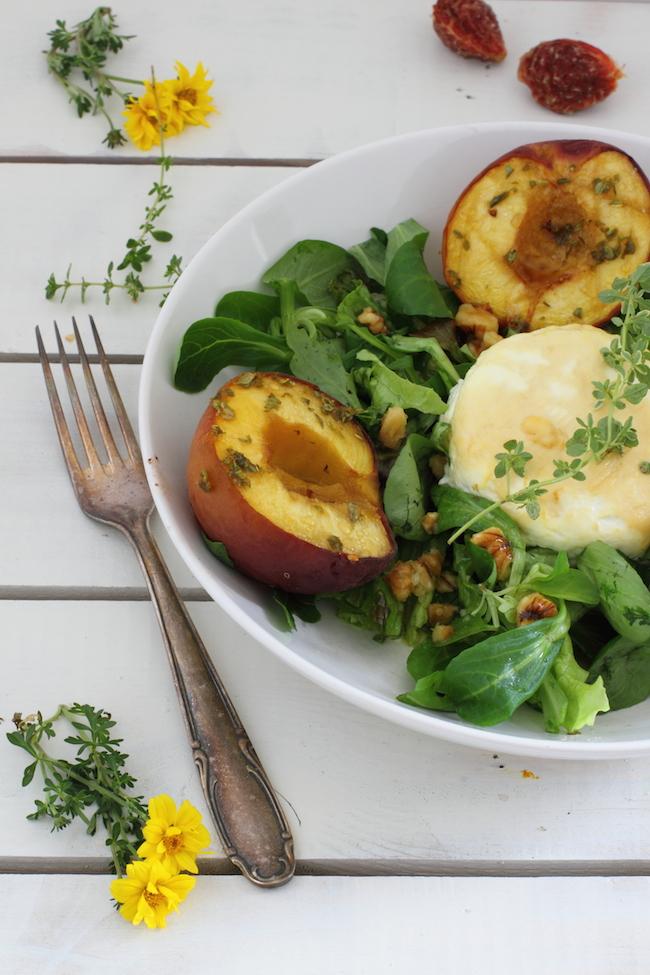 haseimglueck.de Rezept, Salat-Pfirsiche-Ziegenkäse 1