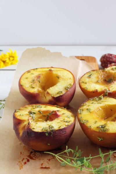haseimglueck.de Rezept, Salat-Pfirsiche-Ziegenkäse 5