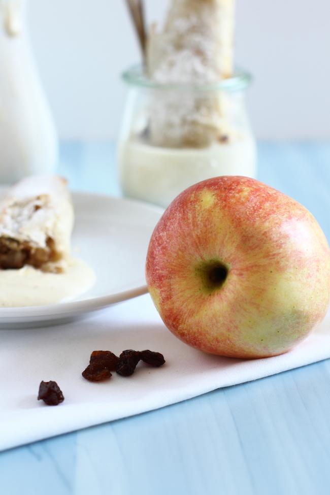 Mini Apfelstrudel Röllchen Mit Vanille Sauce Hase Im Glück