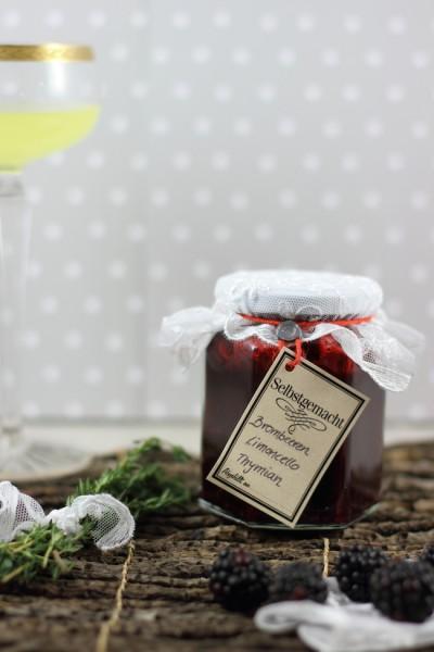 haseimglueck.de Rezept, Brombeermarmelade mit Limoncello & Thymian 1