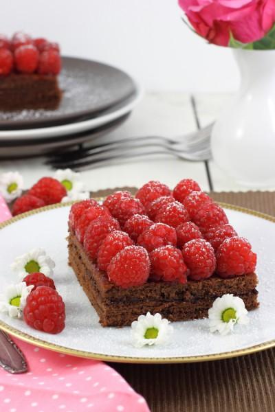 haseimglueck.de Rezept, Himbeer-Schokolade-Schnitten 3