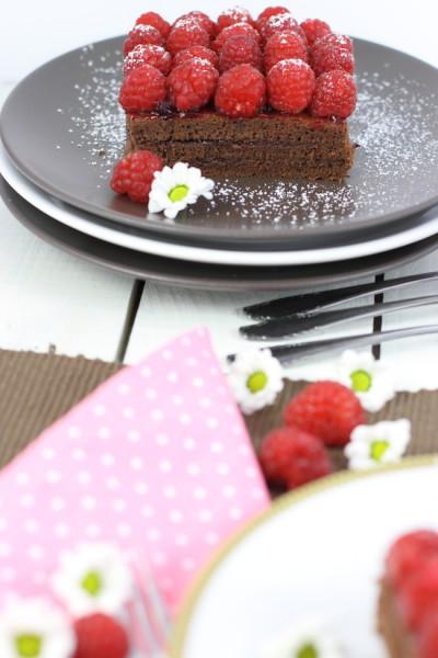 haseimglueck.de Rezept, Himbeer-Schokolade-Schnitten 5