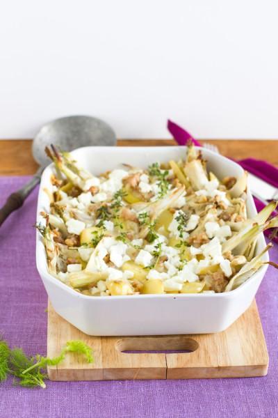 haseimglueck.de Rezept, Kartoffel-Fenchel-Auflauf 1