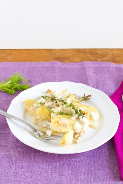 haseimglueck.de Rezept, Kartoffel-Fenchel-Auflauf 3