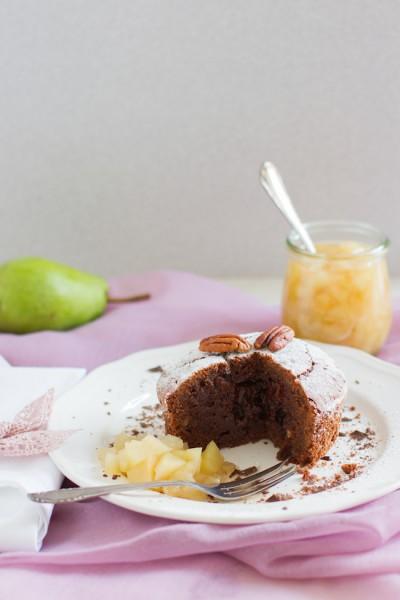 haseimglueck.de Rezept, Schoko-Kuchen+Birnen-Kompott 6