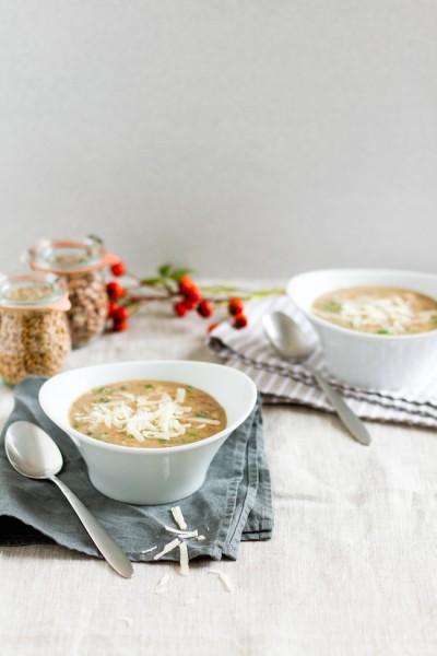 haseimglueck.de Rezept, Bohnen-Dinkel-Suppe-mit-Pancetta und Parmesan 1