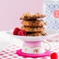 haseimglueck.de Rezept, Haferflocken-Cookies mit Himbeeren + Weißer Schokolade 1