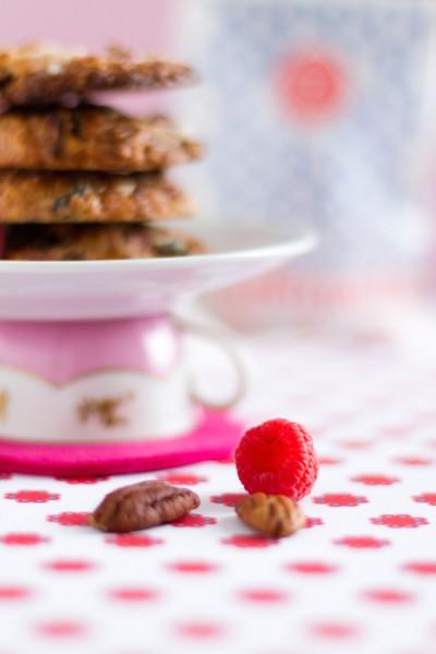 haseimglueck.de Rezept, Haferflocken-Cookies mit Himbeeren + Weißer Schokolade 3