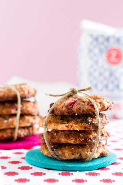 haseimglueck.de Rezept, Haferflocken-Cookies mit Himbeeren + Weißer Schokolade 4