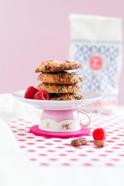 haseimglueck.de Rezept, Haferflocken-Cookies mit Himbeeren + Weißer Schokolade 6