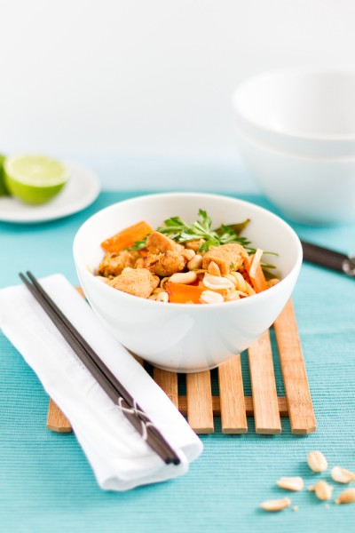 haseimglueck.de Rezept, Reisnudeln-Huhn-Gemüse-Ei Pad Thai 1