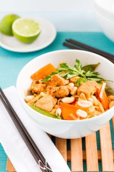 haseimglueck.de Rezept, Reisnudeln-Huhn-Gemüse-Ei Pad Thai 2