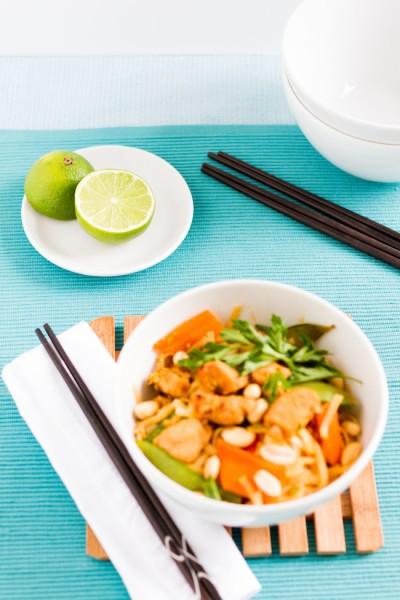 haseimglueck.de Rezept, Reisnudeln-Huhn-Gemüse-Ei Pad Thai 7