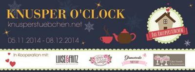 tea party Knusper o'Clock Banner