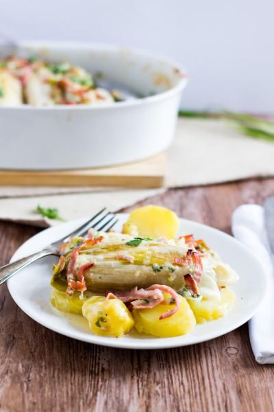 haseimglueck.de Rezept, Chicoree-Kartoffel-Schinken-Auflauf 6