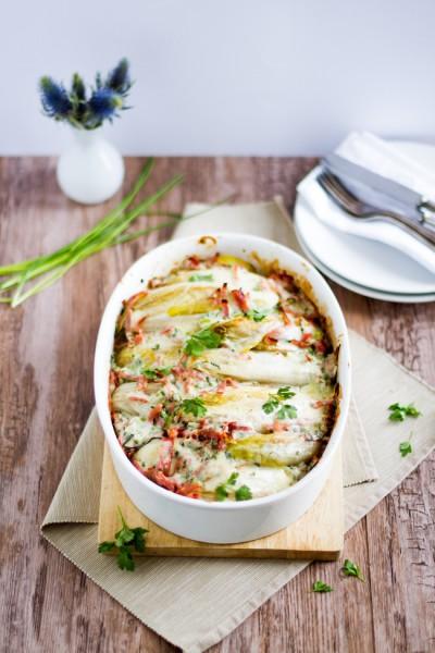 haseimglueck.de Rezept, Chicoree-Kartoffel-Schinken-Auflauf 7